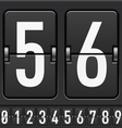 Mechanical Scoreboard Numbers vector image