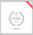 money back icon vector image
