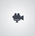 movie logotype theme vector image