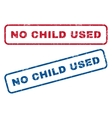 No Child Used Rubber Stamps vector image vector image
