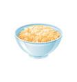 oats bowl oatmeal breakfast cup oat grain vector image vector image