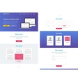One page website design template vector image