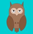 owl in cartoon flat style vector image vector image