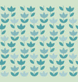 pale color holland tulip repeatable motif simple vector image vector image