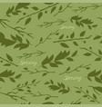 pattern with image of leaves vector image vector image