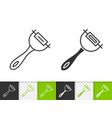 peeler simple black line icon vector image vector image