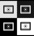 play video icon isolated on black white and vector image vector image