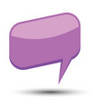 purple cartoon comic balloon speech bubble vector image