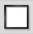 realistic picture frame isolated vector image vector image