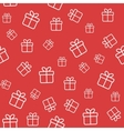 Red seamless pattern with gift boxes vector image vector image