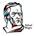 richard wagner portrait vector image vector image
