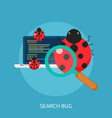 search bug conceptual design vector image vector image