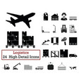 set of 24 logistics icons vector image vector image