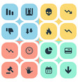 set of simple impasse icons vector image vector image