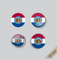 set round buttons with image missouri vector image vector image