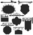 signage shop sign route a set of ornament signage vector image vector image