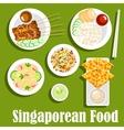 Singaporean national cuisine flat icon vector image vector image
