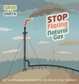 Stop flaring natural gas vector image