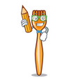 student plastic fork cartoon with the isolated vector image