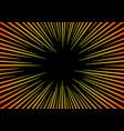 sun rays or explosion boom hyper speed warp vector image vector image