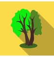 Two trees icon flat style vector image vector image
