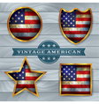 Vintage American Flag Badges and Emblems vector image vector image