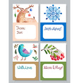 Watercolor beautiful gift cards collection vector image vector image