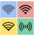 wi-fi icon set vector image vector image