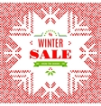 Winter Sale background poster card vector image vector image