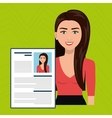 woman cv find person vector image
