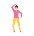 woman dancing birthday party vector image