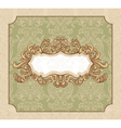 abstract royal floral vintage frame vector image