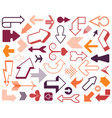 arrow 3d button icon set red color on white vector image