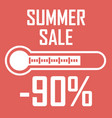 special offer summer discount in the form of a vector image