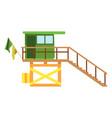 baywatch house flat icon cartoon vector image