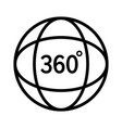 360 degree view or video line icon vector image