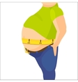 Abdomen fat overweight man with a big belly and vector image vector image