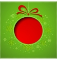abstract christmas balls cutted from paper vector image vector image