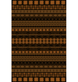 African pattern vector image vector image