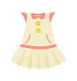 baby clothes dress poster vector image