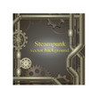 background with gears Steampunk vector image