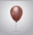 balloon with ribbon on grey background design for vector image vector image