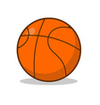 Basketball ball isolated Sports accessory for vector image vector image