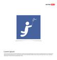 bedminton player icon - blue photo frame vector image