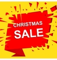 Big sale poster with CHRISTMAS SALE text vector image