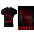 black t-shirt for computer game players vector image vector image
