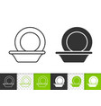 bowl simple black line icon vector image