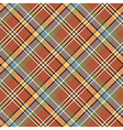 Brown beige diagonal plaid pixeled seamless vector image vector image
