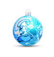 christmas ball in the style of marble ink vector image vector image