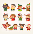 christmas people vector image vector image